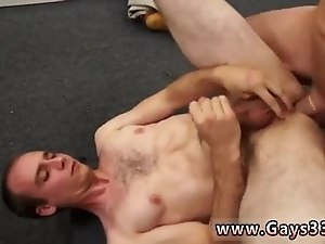 Straight guys try cum gay xxx Fitness trainer gets anal banged