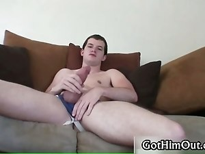 Devin Moss jerking his massive gay cock