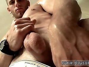 Muscled American dude is eager for wanking and pissing in this solo scene